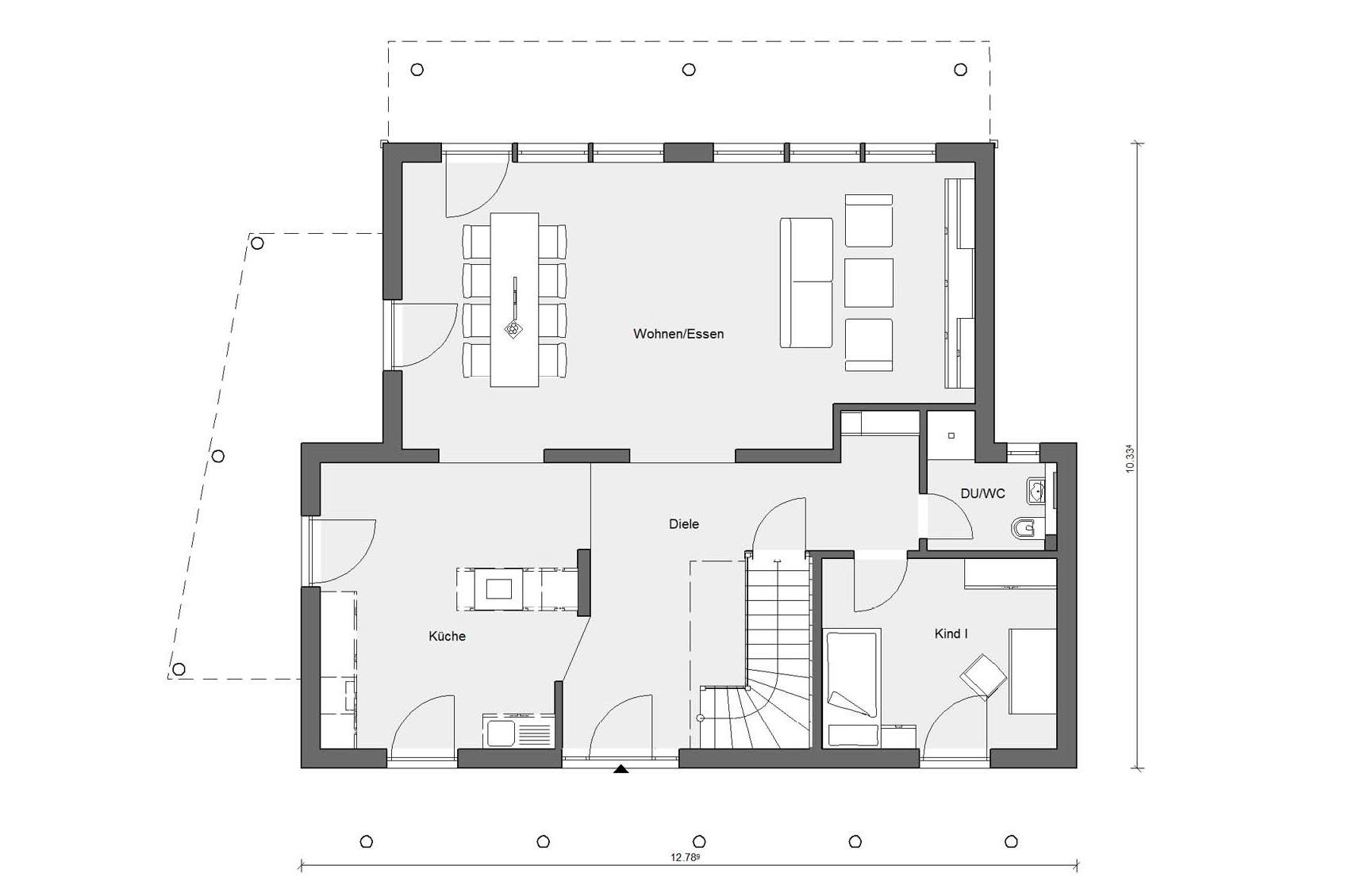 Erdgeschoss Grundriss Young Family Home 2